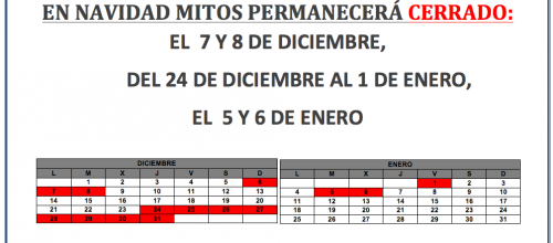 CALENDARIO DE FIESTAS EN MITOS