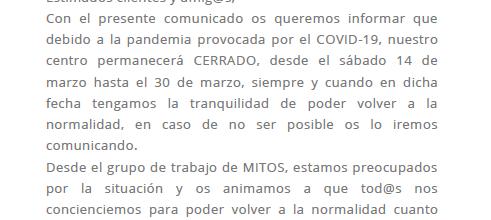COMUNICADO COVID-19 – NATACIÓN MITOS